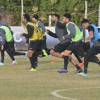هجر يواصل تدريباته اليومية على ملعب النادي