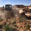 إزالة تعديات عشوائية على الأراضي في صوير