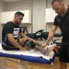 أنهى برنامجه العلاجي والتأهيلي بمركز الفيفا بدبي ،، هتان باهبري يعود للملاعب بعد إصابة الكاحل