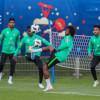 بالصور : المنتخب الوطني يواصل استعداداته لمواجهة مصر