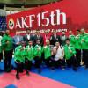 اخضر الكاراتيه وصيف القتال الجماعي في ختام البطولة الاسيوية الـ 15