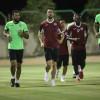 الفيصلي يواصل تدريباته على ملعب النادي بمدينة حرمة