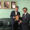 المدلج رئيس الفيصلي في زيارة لسعادة السفير هاني مؤمنة .