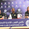 المؤتمر الصحفي لمدربي فريقي الجزيرة الإماراتي والنصر السعودي