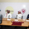 في مؤتمراً صحفياً إدارة النادي الفيصلي تدشن عقد الرعاية مع شركة الوفاق لتأجير السيارات