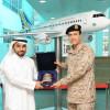 استقبله محافظ التدريب التقني ،، قائد القوات البحرية يطلع على مرافق الكلية العالمية لعلوم الطيران