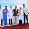 منسوبو مدينة سلطان الإنسانية يحتفون بزميلهم لاعب المنتخب عبدالله الفيفي
