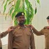 العقيد عبدالله السبيعي يقلد مفرح البيشي الرتبه الجديدة