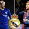 جماهير ريال مدريد تفضل هازارد على نيمار