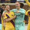 حارس برشلونة يتعرض للإصابة