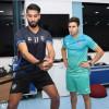 الشهري وكردي في تدريبات الهلالوالعابد في العيادة