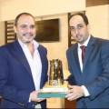 الأمير الحسين بن علي يستقبل رئيس نادي الفيحاء