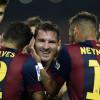 ثنائية لميسي وسواريز يحرز هدفه الأول مع برشلونة في الليجا