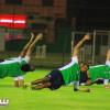 بالصور | الأهلي يواصل تدريباته لموقعة النصر