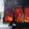 إحراق مقر الإتحاد المصري لكرة القدم