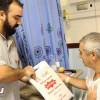لاعبو الوحدة يزورون المرضى المنومين بمستشفى النور بمكة