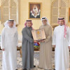 سلمان آل خليفة يستقبل رئيس الاتحاد السعودي لكرة القدم ونائبه والامين العام