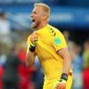 كاسبر شمايكل الأفضل في لقاء الدانمارك أمام كرواتيا