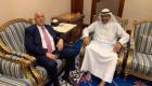 الشيخ أحمد الفهد يلتقي الرجوب في الكويت