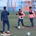 بن رمضان يجتمع مع اللاعبين والفيحاء يجري مرانه الرئيس لمواجهة الطائي