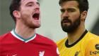 لاعب ليفربول يوضح حقيقة تشاجره مع أليسون