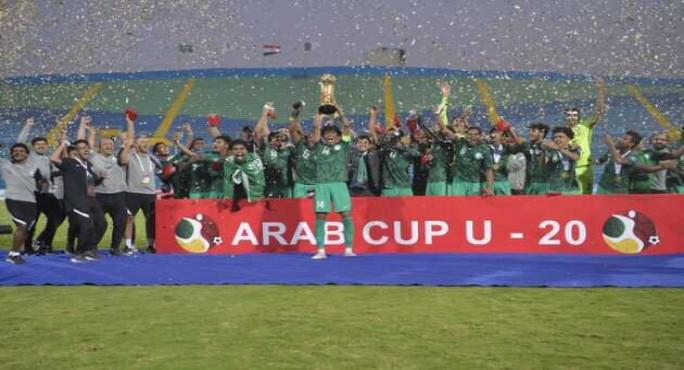 الاخضر الشاب تحت 20 سنة يحقق كأس العرب بهدفين لهدف امام الجزائر