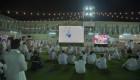 زوار معرض الصقور والصيد السعودي يدعمون المنتخب في تصفيات كأس العالم