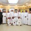 عضو شرف نادي المجزل الشيخ عبدالرحمن الريس يكرم أعضاء مجلس ادارة النادي