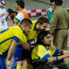 نجوم النصر يظهرون الواجهة المشرفّة لكرة القدم بتواضع و ابتسامة