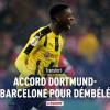 ديمبيلي يحقق حلمه باللعب في برشلونة