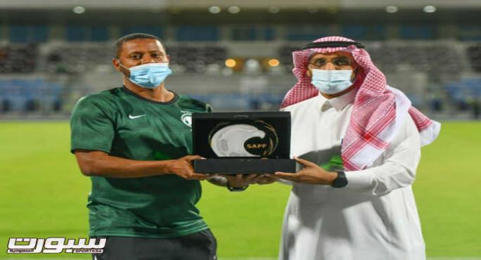 المنتخب السعودي يكرم وقت اللياقة