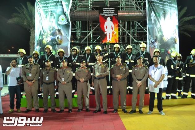 ادارة الدفاع المدنى بمكة المكرمة مع الفائزين