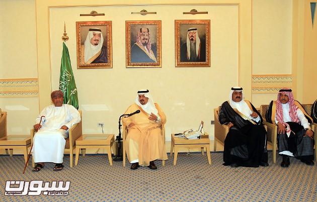 استقبال أمير منطقة القصيم للادارة الرائدية وصحم العماني -(1)- -- --