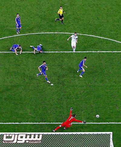 Argentina's Messi scores