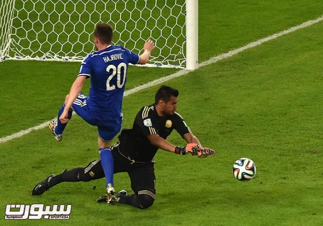 Bosnia-Hercegovina's midfielder Izet Haj