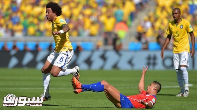 البرازيل تشيلي 14 مارسيلو