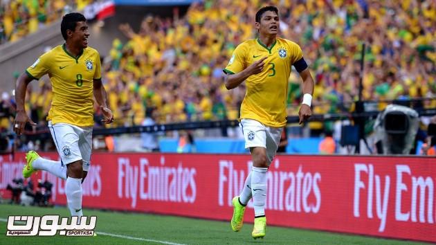 البرازيل كولومبيا 13 تياغو سيلفا