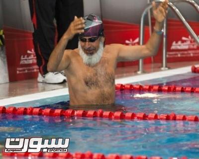 السباح ابراهيم الهويدي عمرة 60سنه