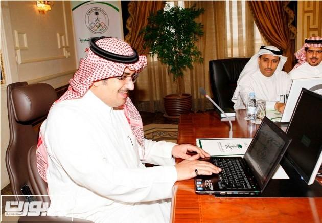 تدشين موقع اللجنه الولمبيه السعوديه