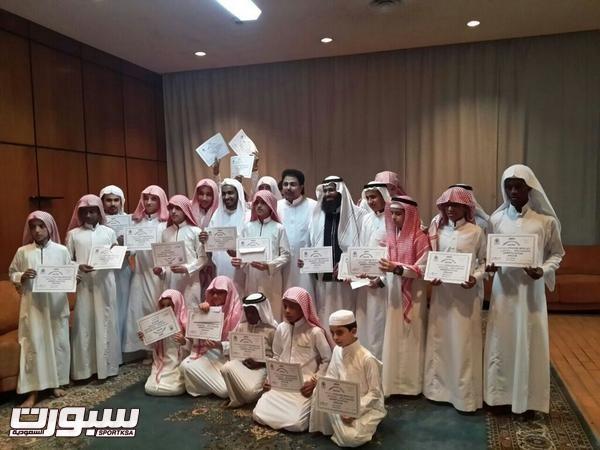 مسابقة تحفيظ القرآن الكريم والتي أقيمت في نادي الأنصار