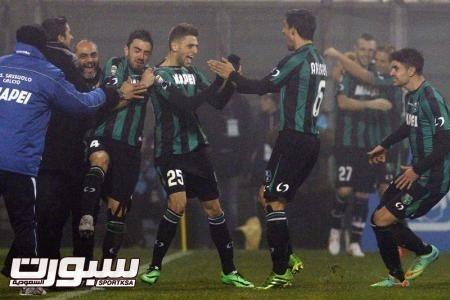 هزيمة ميلانو امام ساسولو وفوز ثلاثي القمة في الدوري الايطالي