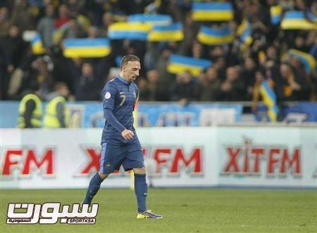 اوكرانيا تهزم فرنسا 2-صفر في ذهاب ملحق تصفيات كأس العالم 2014