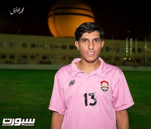 """رياض العريني بقميص الرائد """"تصوير محمد الدخيل"""""""