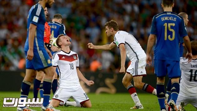 فرحة المانيا بكأس العالم 2014 - 2