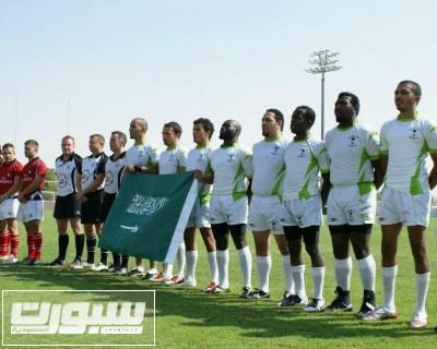 فريق الرقبي السعودي خلال مشاركته في بطولة سابقة