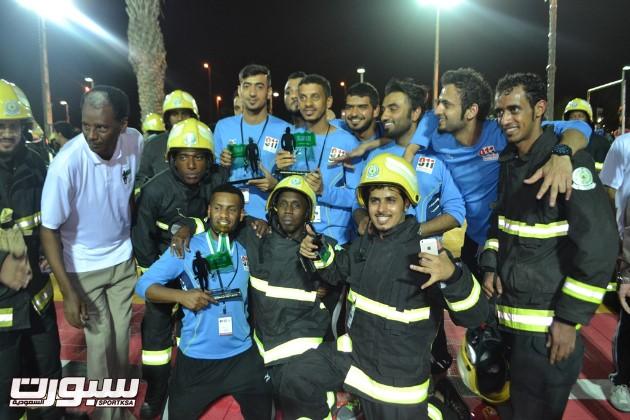 فريق الطائف يحتفل بالمركز الاول