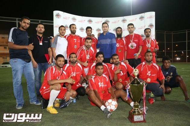 فريق المنصورة الفائز بلقب البطولة