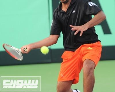 فهد السعد خلال مبارياته في ديفيز كاب بقطر
