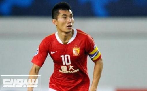 قائد غوانزهو الصيني أحد المرشحين لنيل جائزة أفضل لاعب آسيوي