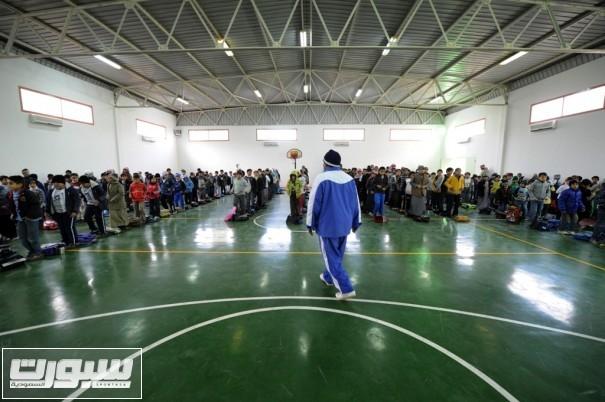 نشاط رياضي في صالة جديدة في مدارس حائل